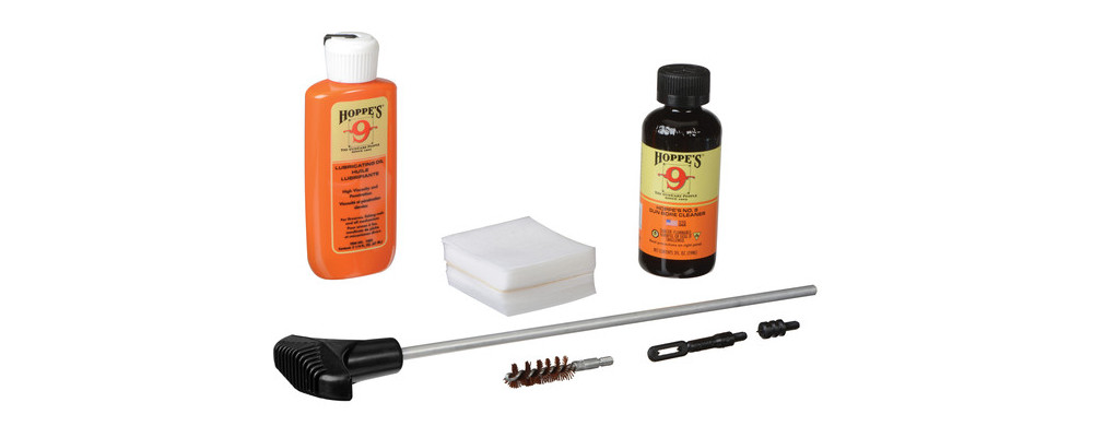 Hoppe's PCO38 No. 9 cleaning kit has with the cleaning solvent and lubricant