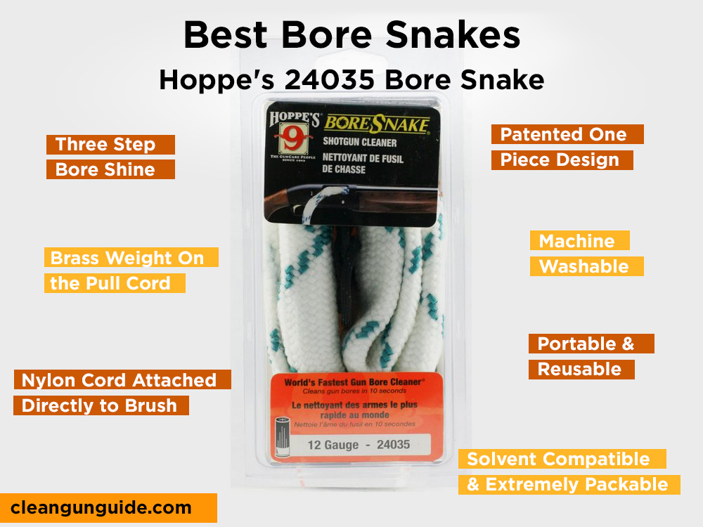 Hoppe's 24035 Bore Snake Review, Pros and Cons