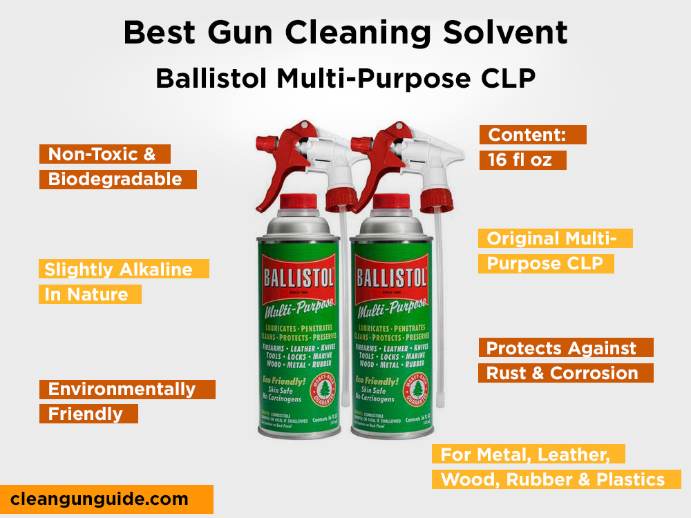 Ballistol Multi-Purpose CLP Review, Pros and Cons