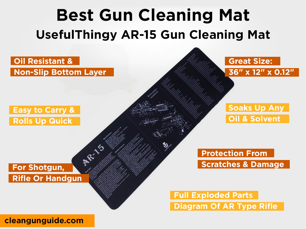 UsefulThingy AR-15 Gun Cleaning Mat Review, Pros and Cons