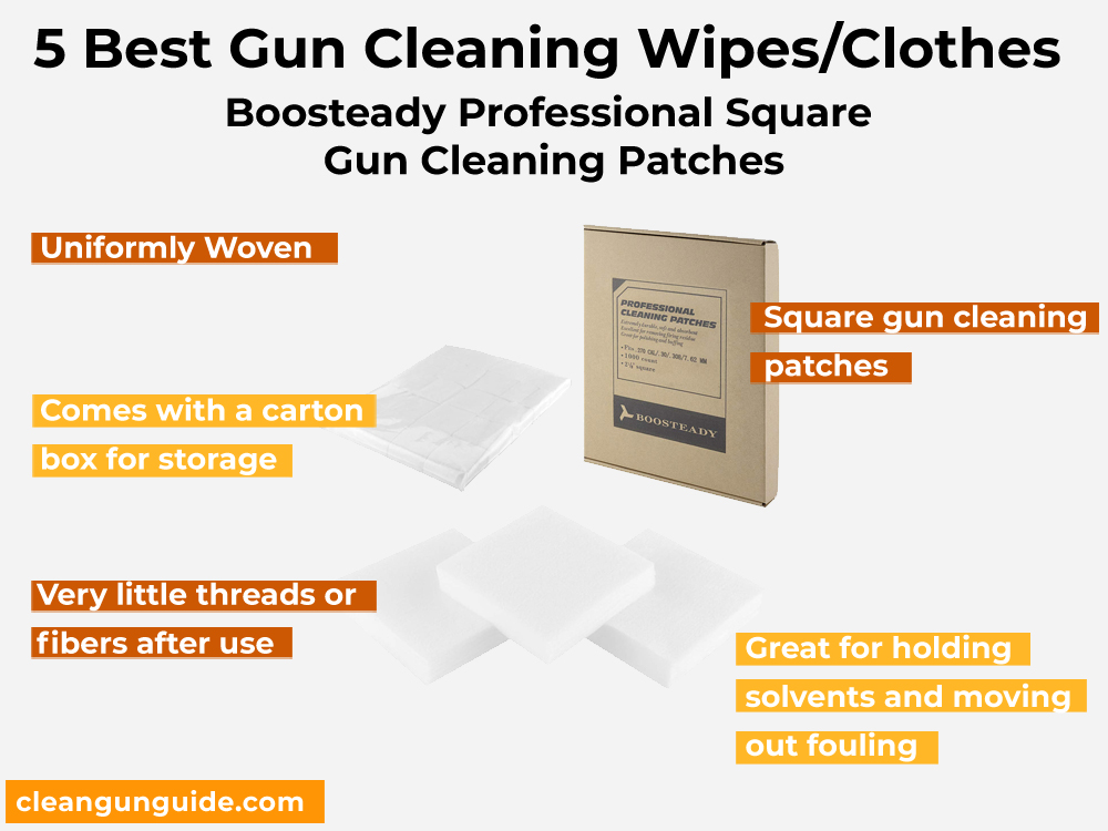 Boosteady Professional Square Gun Cleaning Patches Gun Cleaning Wipes/Clothes – Review, Pros and Cons
